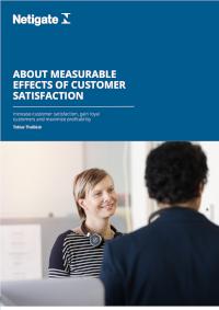 Measurable Effects of Customer Satisfaction
