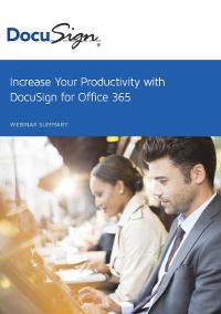 Steigern Sie Ihre Produktivität mit DocuSign für Office 365