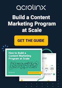 How to Build a Content Marketing Program at Scale