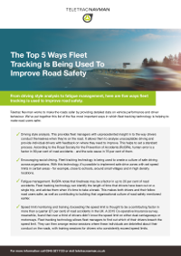 The Top 5 Ways Fleet Tracking Is Being Used To Improve Road Safety