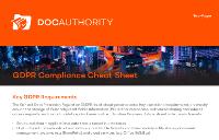 The GDPR Compliance Cheat Sheet