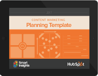 2017 Content Marketing Planning Template