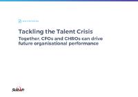 Tackling the Talent Crisis