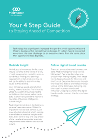Your 4 Step Guide to Staying Ahead of Competition