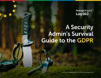 Admin's Survival Guide for GDPR