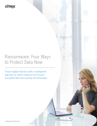 Ransomware: Four Ways to Protect Data Now