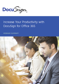 Increase Your Productivity with DocuSign for Office 365
