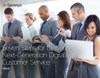 7 Steps for Delivering Next-Generation Digital Customer Service