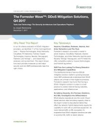 Cloudfare ist der führende Anbieter von DDoS-Abwehrlösungen im Forrester Wave™ Report