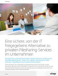 Eine sichere, IT-bewährte Alternative zu Personal File Sharing Services in Unternehmen