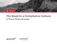The Road to a Compliance Culture: A Three Phase Journey