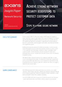 Achieve Strong Network Security Ecosystems to Protect Customer Data