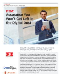DTM: Assurance You Won't Get Left in the Digital Dust