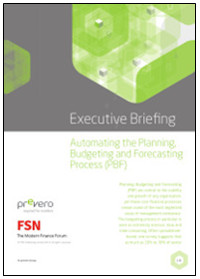Automating the Planning, Budgeting and Forecasting Process