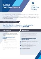 Cash Flow Finance Factsheet