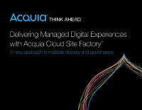 Mit Acquia Cloud Site Factory digitale Erlebnisse kreieren
