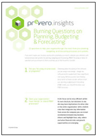 Ten Burning Questions on Planning, Budgeting and Forecasting