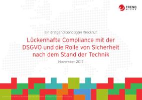 Lückenhafte Compliance mit der DSGVO und die Rolle von Sicherheit nach dem Stand der Technik