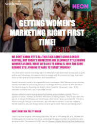 Getting Women's Marketing Right First Time!