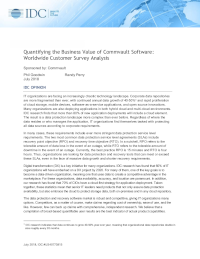 Quantifying the Business Value of Commvault Software: Worldwide Customer Survey Analysis