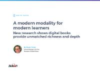 A Modern Modality For Modern Learners