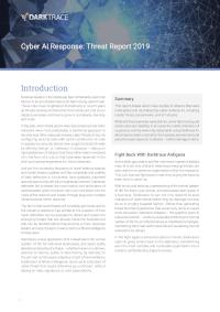 Cyber AI Response: Threat Report 2019