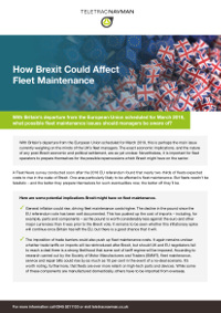 How Brexit Could Affect Fleet Maintenance