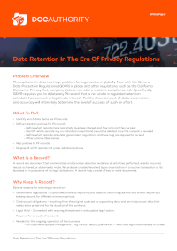 Data Retention In The Era Of Privacy Regulations [Whitepaper]