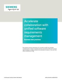 Accelerate Collaboration with Unified Software Requirements Management: Business Best Practices