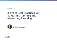 Best Practices for Targeting, Aligning and Measuring Learning