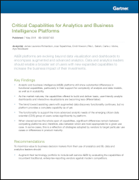 Critical Capabilities for Analytics and Business Intelligence Platforms