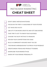 Instagram Marketing [Cheat Sheet]