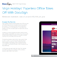 Virgin Holiday's Paperless Office Takes off with DocuSign