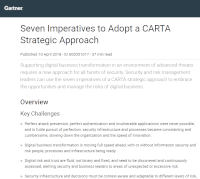 Gartner: Seven Imperatives to Adopt a CARTA Strategic Approach