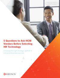 5 Questions to Ask HCM Vendors Before Selecting HR Technology