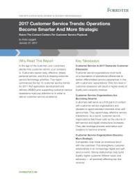 2017 Customer Service Trends