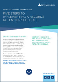 5 Steps to Implementing a Records Retention Schedule