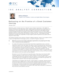 Delivering on the Promise of a Great Customer Journey