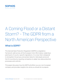 A Coming Flood or a Distant Storm? - The GDPR from a North American Perspective