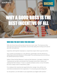 Why a Good Boss is the Best Incentive of All