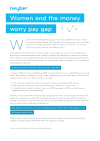 Women and the Money Worry Pay Gap