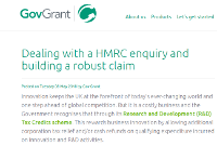 Dealing with a HMRC enquiry and building a robust claim