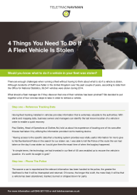 4 Things You Need To Do If A Fleet Vehicle Is Stolen