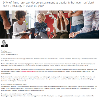 94% of Firms Rank Workforce Engagement as a Priority, Do You?