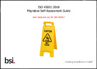 ISO 45001:2018  Your Migration Self-Assessment Guide