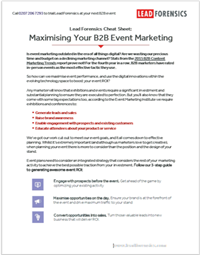 Cheat Sheet: Maximising Your B2B Event Marketing