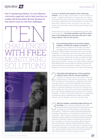 Ten Challenges with Free Monitoring Solutions