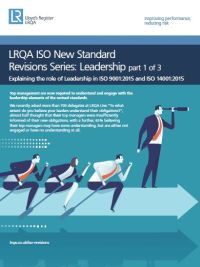 Explaining the Role of Leadership in ISO 9001:2015 and ISO 14001:2015