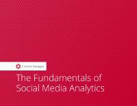 The Fundamentals of Social Media Analytics